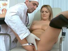 Teen pussy examined by a doc