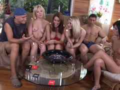 Watch Spicy Roulette sex round for free!