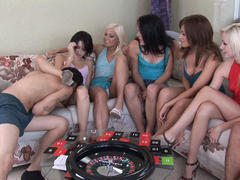 amateur in hot orgy on party