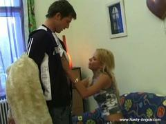 shaved blonde teen fucked
