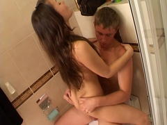 wet teen whore blows cock