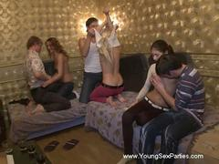 naughty girlfriend penetrated on party