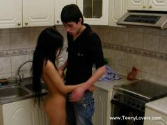 dark hair teen getting penetrated