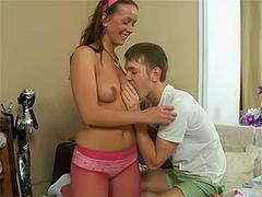 wet teen whore gives a good blow job