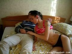 shaved brunette teen penetrated