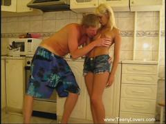 shaved teen couple getting penetrated