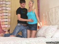 shaved blonde teen penetrated