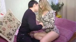 High-heeled teen gets fucked